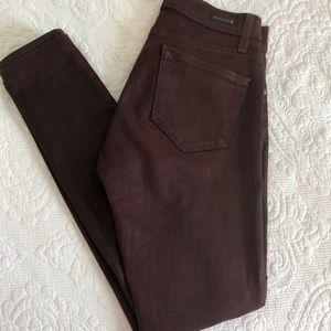 Principle 'Dreamer' skinny jeans in burgundy sheen